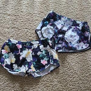 Pair of Old Navy floral active shorts medium